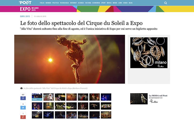 il post Cirque du Soleil – Alla vita! – expomilano2015